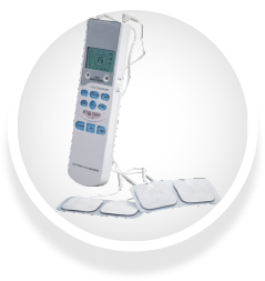 Electronic Pulse Massager bYoung with Pads